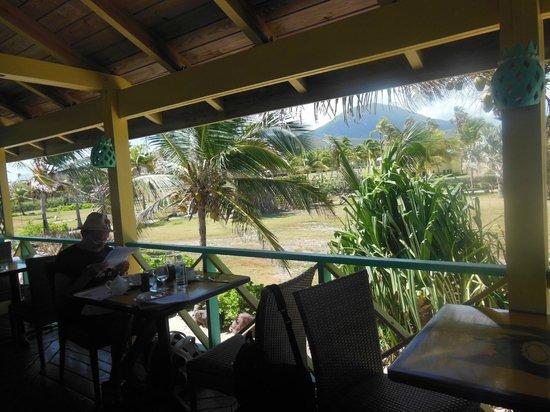Nisbet Plantation Beach Club : Breakfast Mountain and Sea View