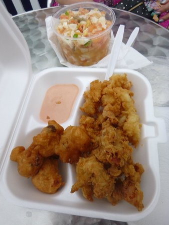Da Conch Man : Fried Conch, conch fritters and conch salad...YUM!