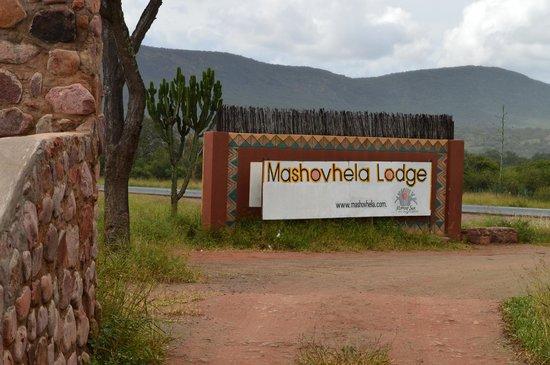Mashovhela Bush Lodge: Entrée dans la réserve