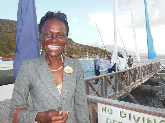 Nisbet Plantation Beach Club : Carine's Welcoming smile !