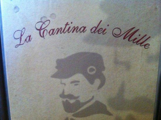La Cantina dei Mille: menu