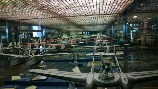 Museo Storico dell'Aeronautica Militare: serie di modellini di idrovolanti