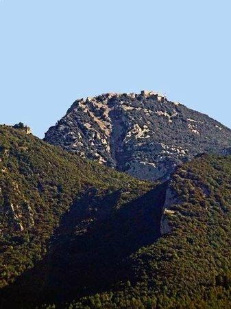 Alta Garrotxa Hostal: Vista de El Mont, desde la terraza de la habitación.