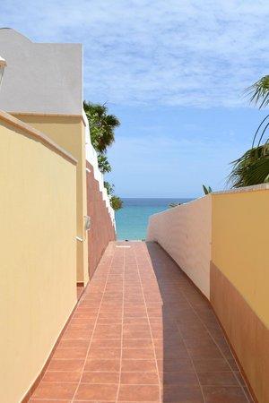Bahia Calma Bungalows: Camino a la playa