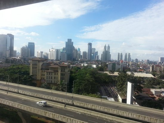 View of cbd central jakarta from 4th floor of the mall picture of loving hut ciputra world view of cbd central jakarta from 4th floor of the gumiabroncs Images