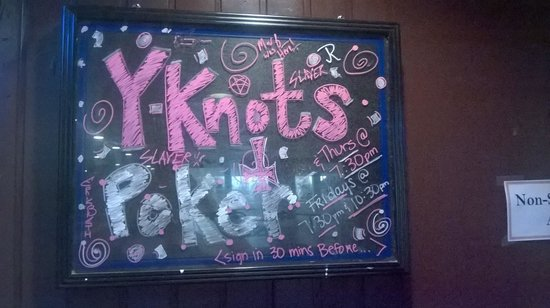 Y-Knot Sports Bar: Texas Hold'em Poker weekly
