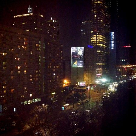 The Westin Warsaw: Night time view from corner room