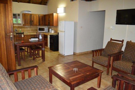 Mopani Rest Camp : La partie séjour/cuisine