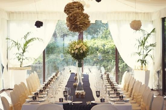 Villa San Crispolto: our table in marquee