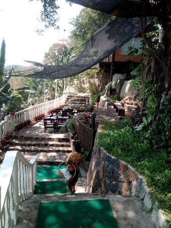 Luljetta's Hanging Gardens and Spa: climb up the garden