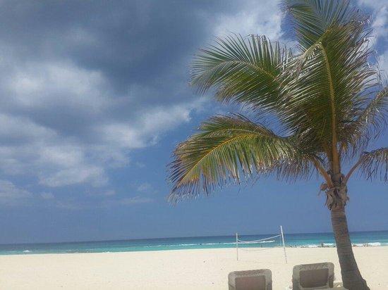 Hard Rock Hotel & Casino Punta Cana: Si no hace viento puedes bañarte, de lo contrario ponen bandera roja por las olas. Es turquesa.!