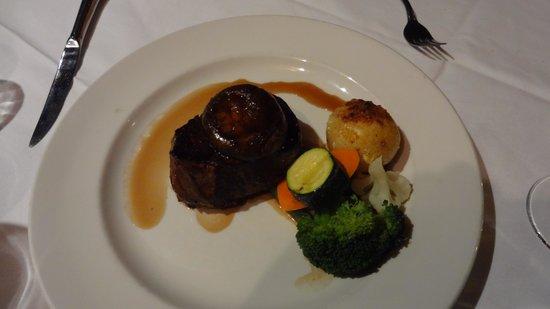 Brass Tavern: Eye Fillet Steak - was perfectly cooked ( medium )