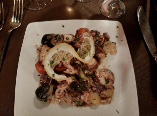 Antichi Sapori Ristorante: Antipasti with squid