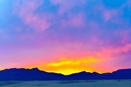 White Sands National Monument : Sunset at Whitesands