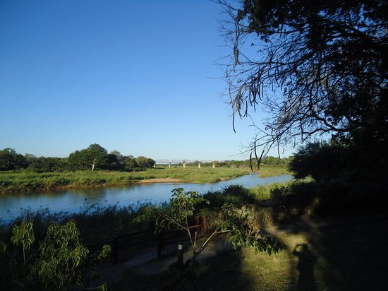 Skukuza Rest Camp: View of the SabieRiver from Bungalow