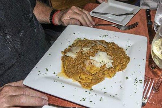 Giorgio's Wine Restaurant : Pasta, Duck Ragout