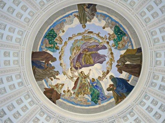 Dom St. Blasien: Deckenmalerei an der Kuppel