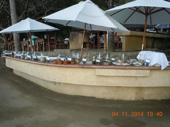 Rhythms of the Night by Vallarta Adventures: The buffet for our group!