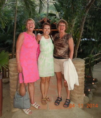 Rhythms of the Night by Vallarta Adventures: Having a great time after dining with a new friend we met on the ride over!