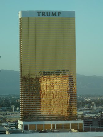 The Mirage Hotel & Casino: Looking out to the Trump tower