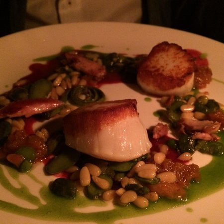 One if by Land, Two if by Sea : Rabbit and Scallops