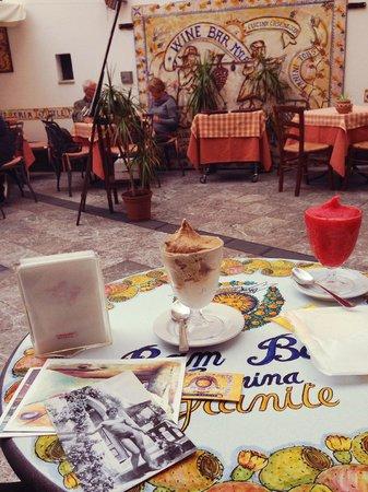 Bam Bar: almond, coffee, strawberry granita