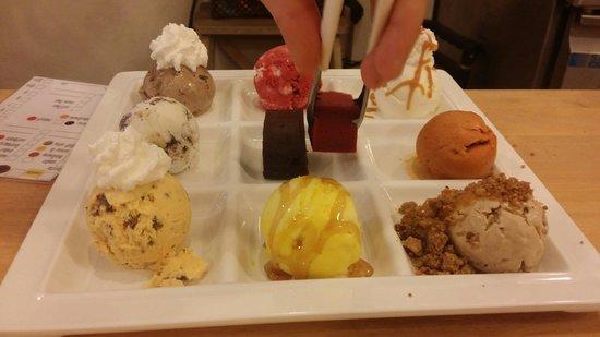 Creamery Boutique Ice Creams: I got a tasting plate