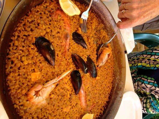 Cala del Moraig: Paella