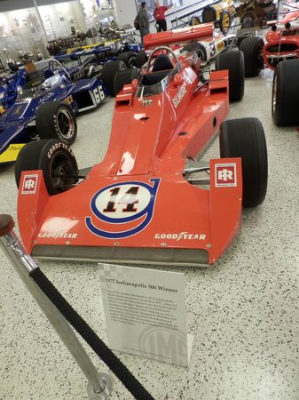 Indianapolis Motor Speedway Museum: One of A J's winning cars.