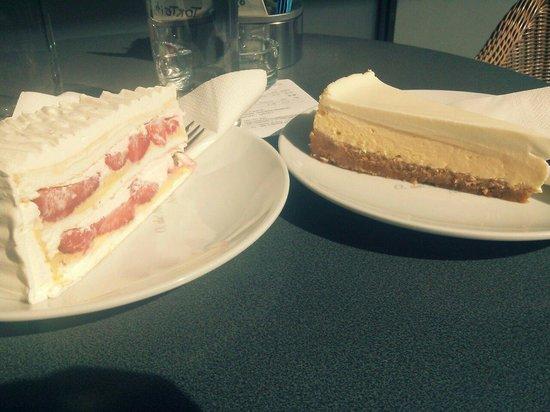 TORTE i to: strawberry cake and cheese cake