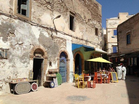 Médina d'Essaouira : Le mellah, partie encore habitée.