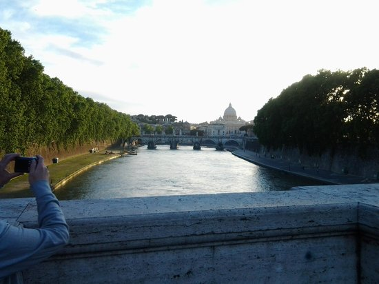 Vatican: view from accross the river