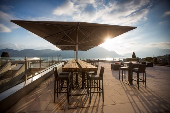 Restaurant Alpenblick : Beste Sicht auf Berge und See