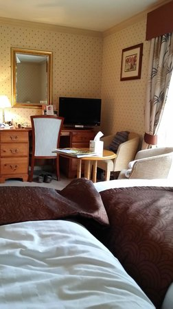 Knights Hill Hotel & Spa: General view of the room from the bed area