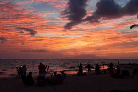 Sarento's on the Beach - Maui: Sunset View At Sarento's On The Beach - Exquisite!