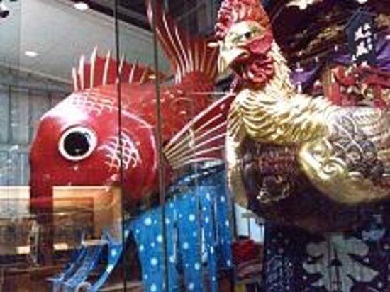 Hikiyama Exhibition Hall: 有名な鯛の曳山