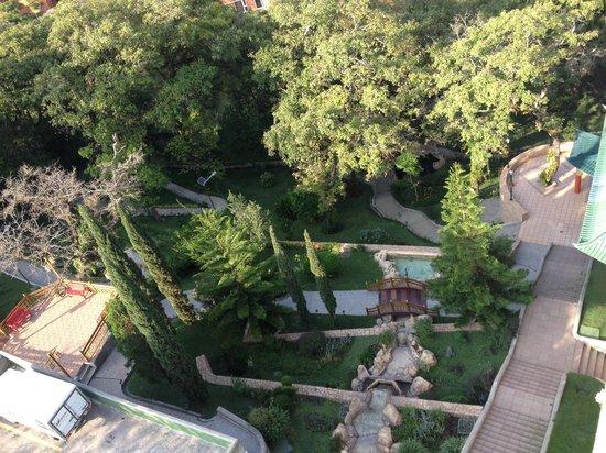 Suites Jardín Imperial: Vista del jardín desde el 7 nivel