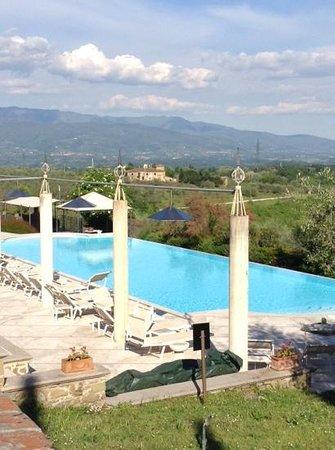 Hotel Villa La Palagina: view of Villa La Palagina pool & surrounding hills