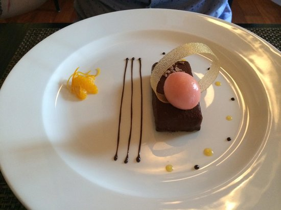 Castle Terrace Restaurant: Chocolate dessert.