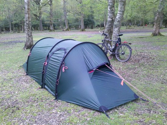 Hollands Wood Campsite: Trying out my new tent