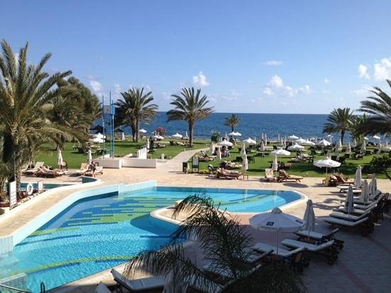 Constantinou Bros Athena Royal Beach Hotel: from the terrace.