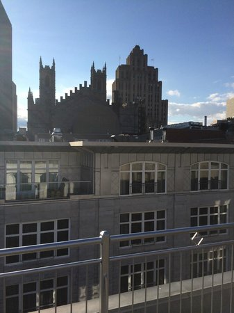 Hotel Nelligan: Private roof deck from 2 bedroom Penthouse suite.