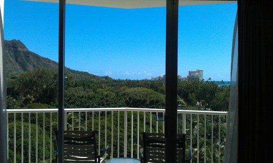 Park Shore Waikiki: 邪魔な遮るもの無い、窓からの眺め