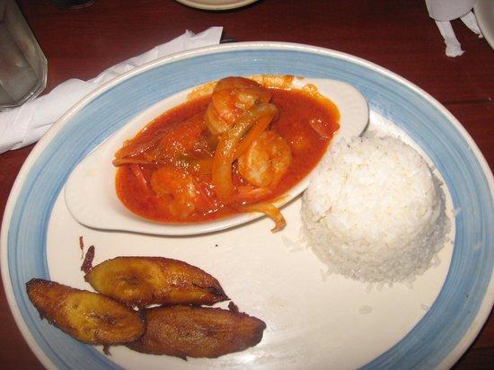 Don Pepe Restaurant III: white rice and creole shrimp