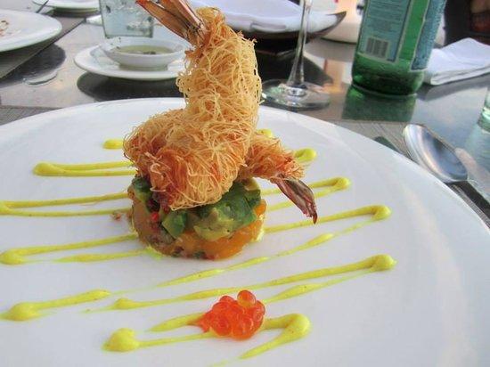 La Sal at Casa Del Mar : Katafi prawn starter at La Sal