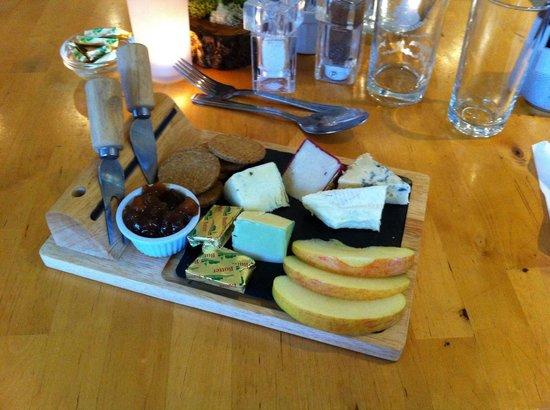 Stags Pavilion: Nachtisch: Arran Käseplatte