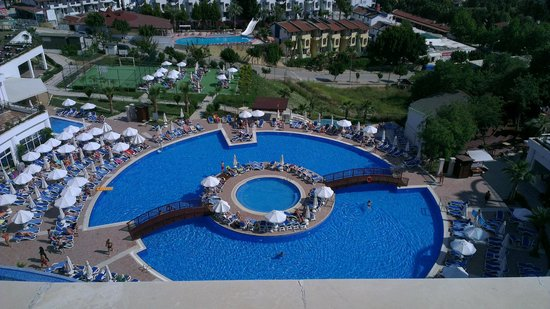 Side Prenses Resort & Spa Hotel: View of pool from our room