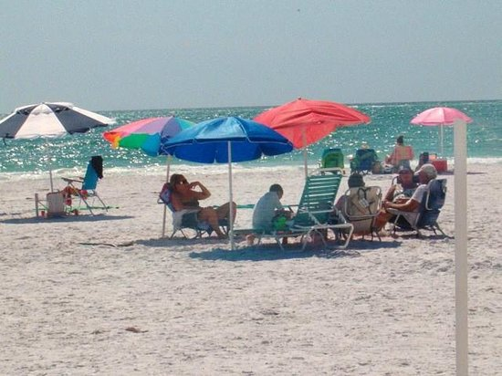 Siesta Sands on the Beach: Guests enjoying afternoon beach time!