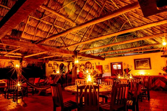Mountain Equestrian Trails : Cantina at night.