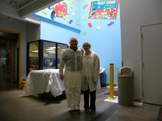 Jelly Belly Factory Tour: All dressed up for the Jelly belly university tour